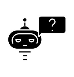 artificial intelligence learning black icon vector image