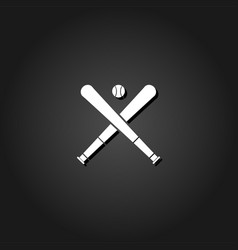 baseball icon flat vector image