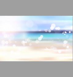 beautiful blurred beach seaside bokeh landscape vector image