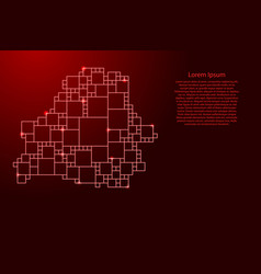 Belarus map from red pattern from a grid of vector