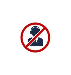 Block call center logo icon design vector