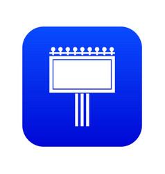 Board for statistics icon digital blue vector