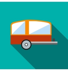 Camping trailer icon flat style vector