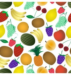 colorful various fruit summer seamless pattern vector image