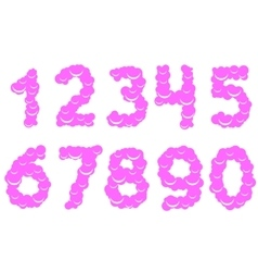 Cool sweet numbers vector