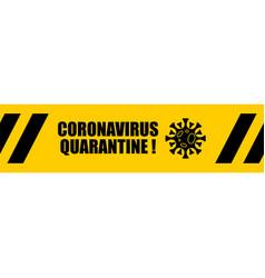Coronavirus quarantine tape sticker pattern virus vector