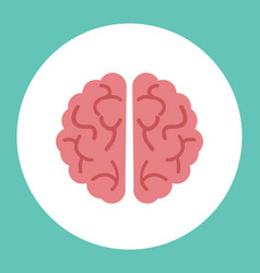 creative brain icon vector image