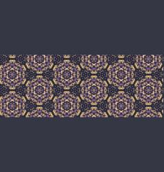 Dotty moody polka dot seamless border pattern vector