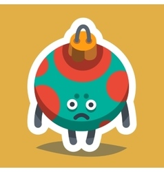 Emoticon Icon Happy New Year Tree Toy vector image
