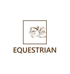equestrian club logo vector image