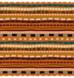 Ethnic abstract pattern with African motives vector