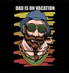 father vacation retro vector image