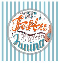 Festa junina holiday card design for brazilian vector