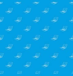 firewall on the laptop monitor pattern vector image