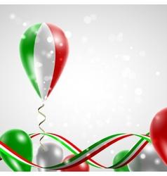 Flag of Italy on balloon vector