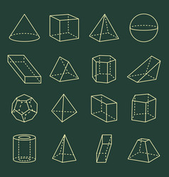 Geometric shapes collection 3d vector