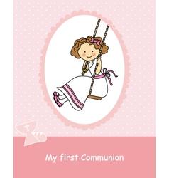 Girl swinging vector