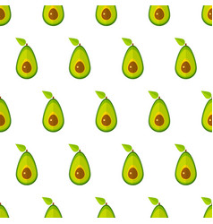 green avocado geometric vegetable seamless pattern vector image