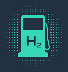 Green hydrogen filling station icon isolated on vector