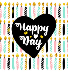 happy day postcard design vector image
