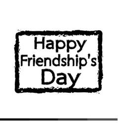 happy friendship day design vector image