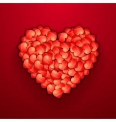Heart shape of hearts on red Valentine holiday vector image