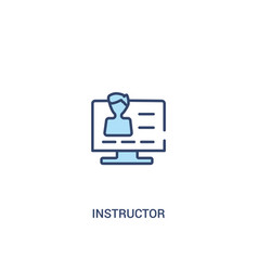 Instructor concept 2 colored icon simple line vector