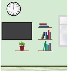 Interior of modern flat vector image