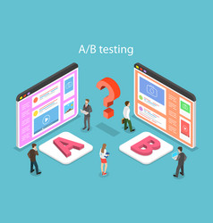 Isometric flat concept of ab testing split vector