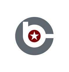 Letter b c modern vector