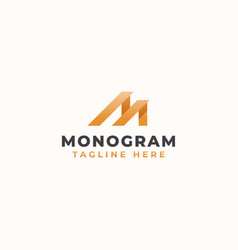 letter m monogram concept logo template vector image