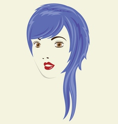 Long Straight Woman HairStyle vector