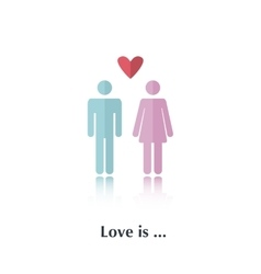 Love is vector image vector image