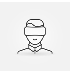 Man wearing VR icon vector