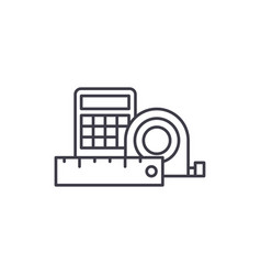 Measurement and calculations line icon concept vector