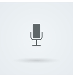 Minimalistic icons with vintage or studio vector image
