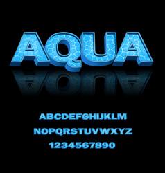 Modern font for design print advertising vector