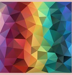 Modern polygonal background in vertical rainbow vector