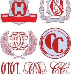 Monograms CC vector