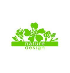 Nature card botanical beauty sticker almond flower vector