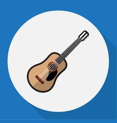 Of multimedia symbol on guitar vector