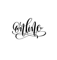 online hand lettering inscription black ink vector image