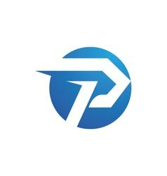 P logo templatev vector