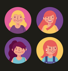 people woman man character vector image