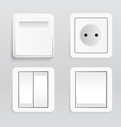 Plugs and switches vector