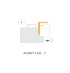 professional business occupation portfolio concept vector image