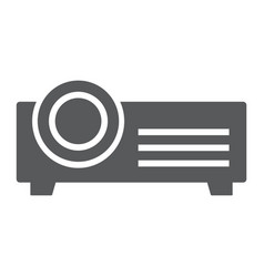 projector glyph icon electronic and seminar vector image