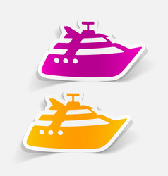 Realistic design element yacht vector