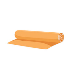 Rolled yoga mat for home and gym workout foam vector
