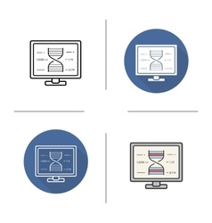 Scientific project icons vector image